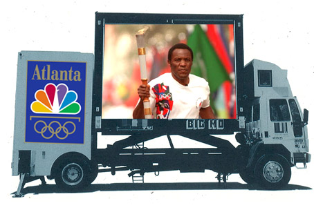 Joseph Ehlinger Coca-Cola Olympic Torch Relay mobile Jumbotron