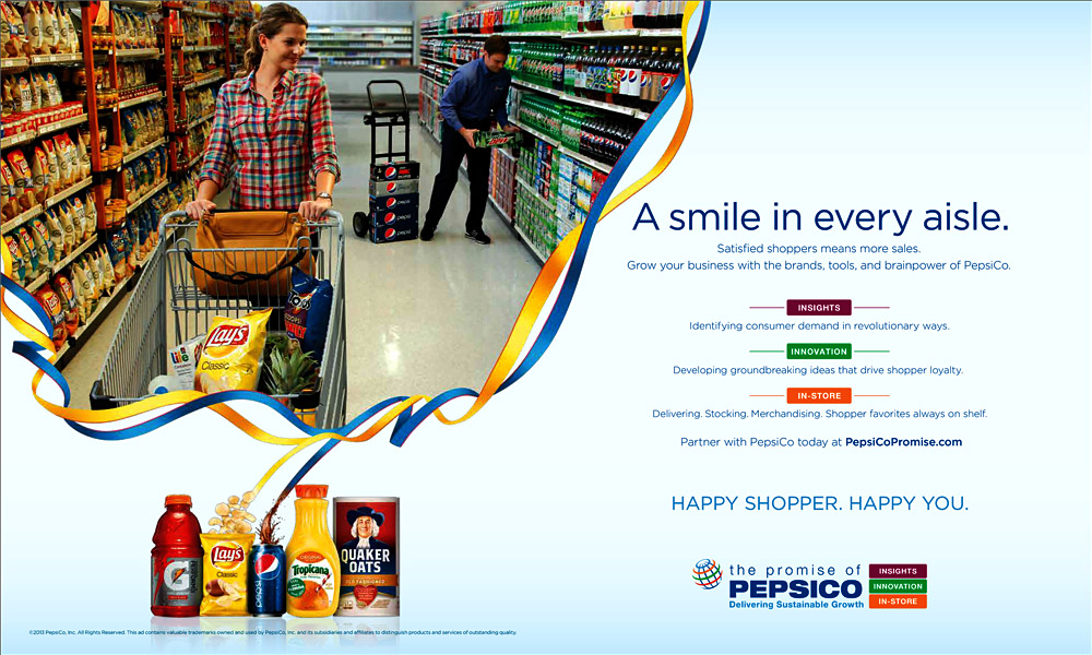PepsiCo Trade Ad – Aisles of Smiles