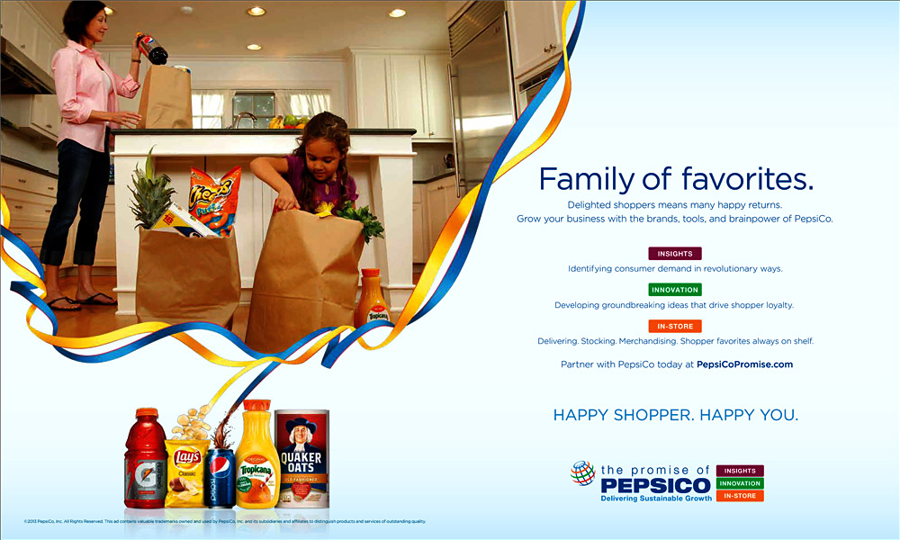 PepsiCo Trade Ad – Family of Favorites