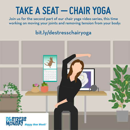 DeStress Monday weekly tips – chair yoga