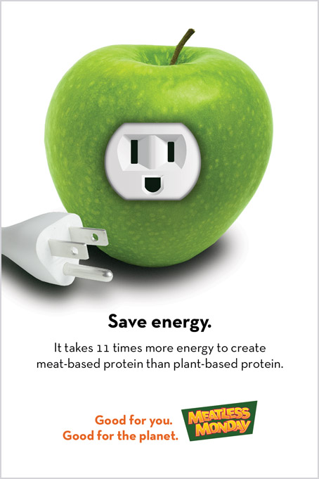 Meatless Monday ad campaign – save energy