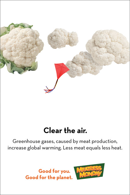 Meatless Monday ad campaign – preserve clean air