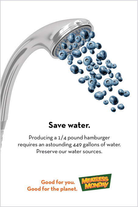 Meatless Monday ad campaign – conserve water