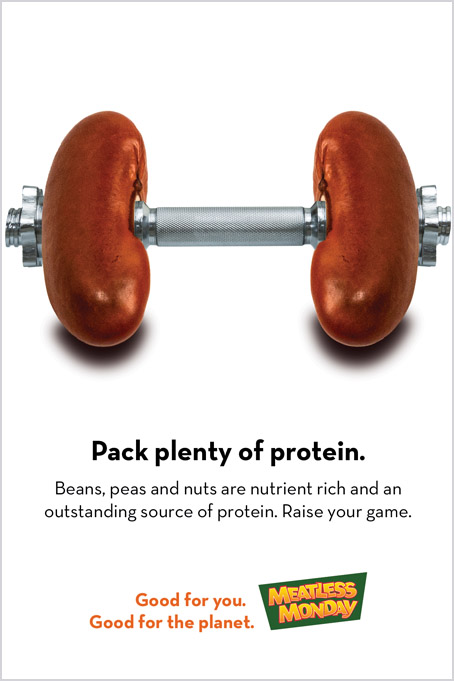 Meatless Monday ad campaign – plant-based protein