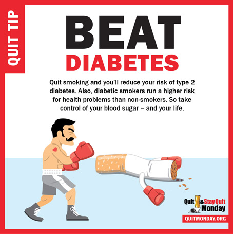 Quit and Stay Quit Monday Tips – beat diabetes