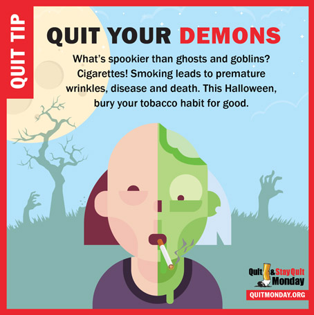 Quit and Stay Quit Monday Tips – halloween quit your demons