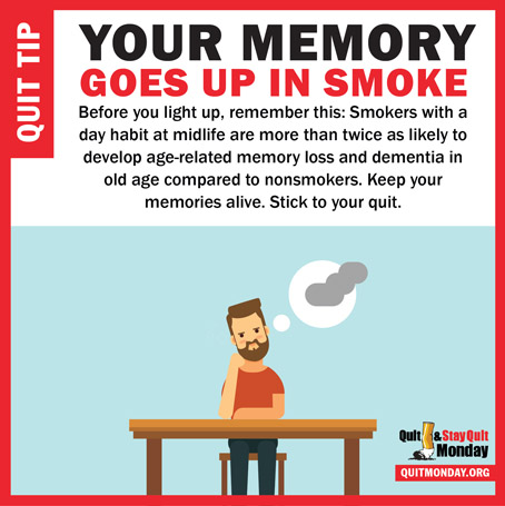 Quit and Stay Quit Monday Tips – memory loss