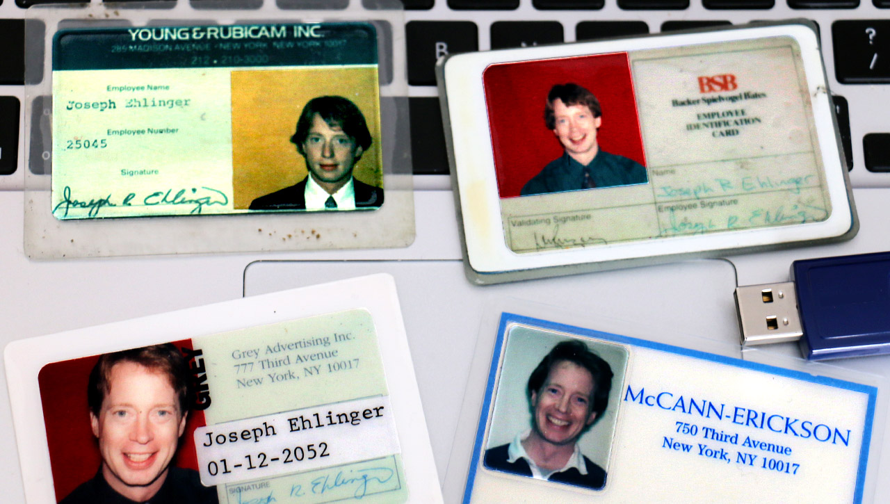 Joseph Ehlinger ad agency ID cards