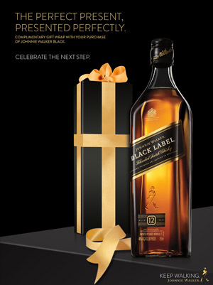 Johnnie Walker print ad for gifting