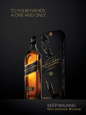 Johnnie Walker print ad for Father's Day